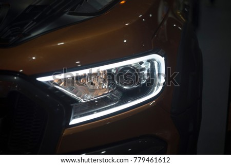 Headlights ,Car headlights design technology #779461612