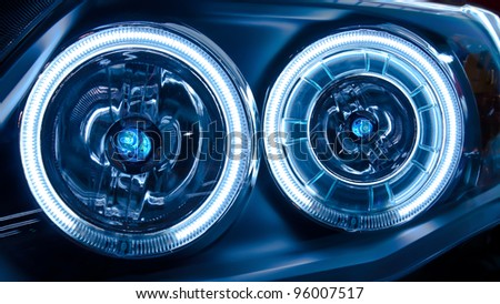 Headlights of a Car