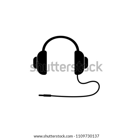 headphone icon. Element of simple music icon for mobile concept and web apps. Isolated headphone icon can be used for web and mobile on white background