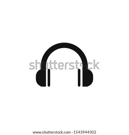 headphone icon, headphone icon, in trendy flat style isolated on white background. headphone icon image, headphone icon illustration