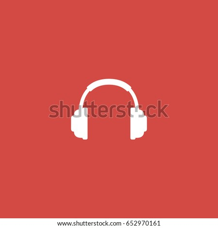 headphone icon. sign design. red background