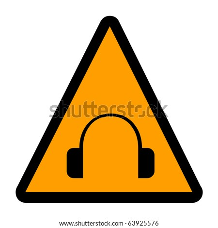 Headphone wearing sign