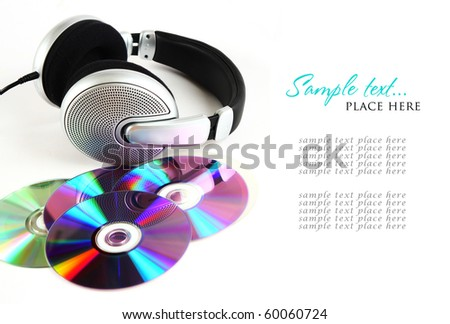 headphones and CD