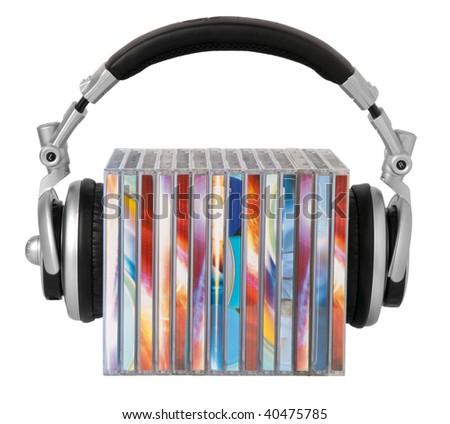 Headphones and cds