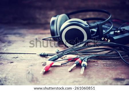 Headphones and DJ equipment