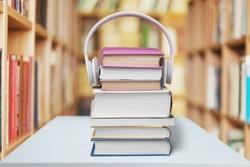 Headphones, Book, Listening.