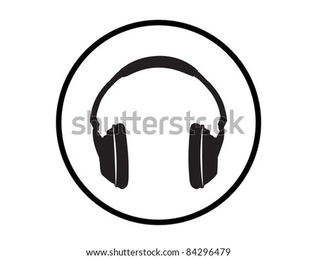 Headphones Illustration - High Resolution JPEG Version. (vector version also available).