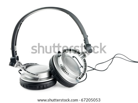 headphones Isolate - stock photo