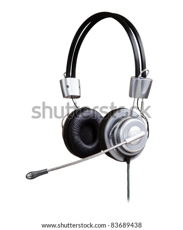 Headphones isolated on a white background
