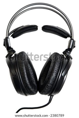Headphones isolated on white.