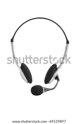 Headphones, isolated on white