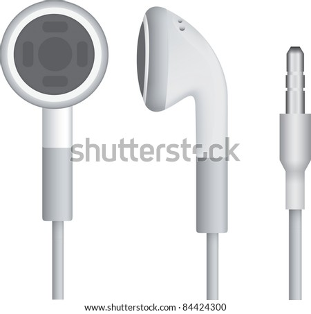 Headphones isolated over white background. raster version - stock photo