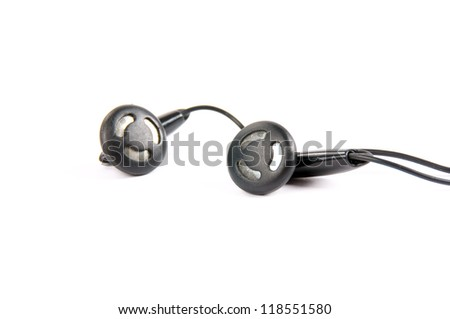 headphones isolated over white / headphones