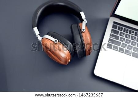 headphones laptop theology gadgets background #1467235637