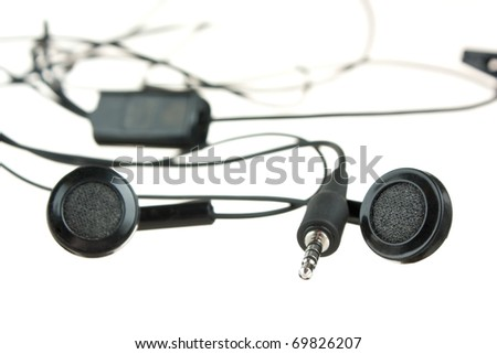 headphones music isolated on white background