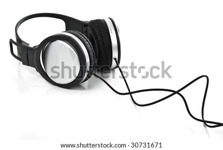 headphones on white background