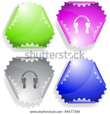 Headphones. Raster sticker. Vector version is in my portfolio.