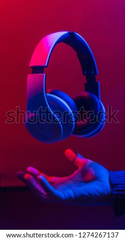Headphones to listen to music with stereo sound.