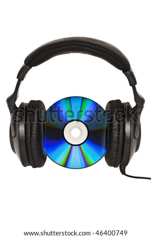 Headphones with CD - Music concept