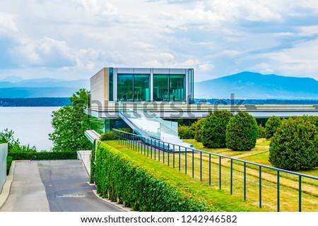 Headquarters of UEFA near Nyon, Switzerland #1242946582