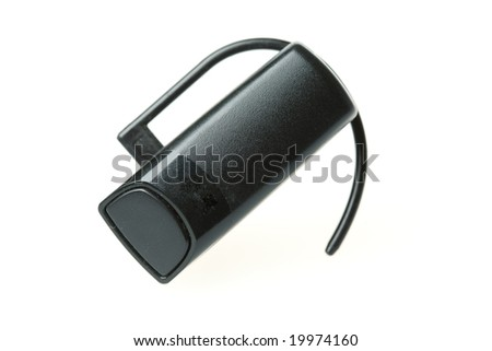 headset device isolated over white background