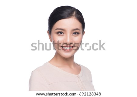Headshot of cute asian woman professional. Architect businesswoman