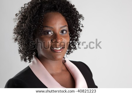 Headshot of smiling african-american business woman