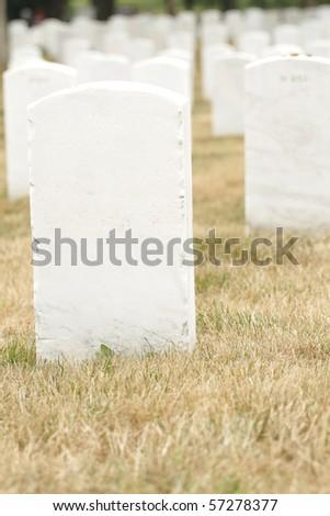 Headstones at the Arlington National Cemetery near Washington DC