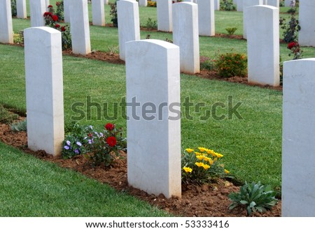 Headstones at War Cemetary