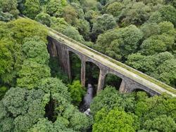 Healey Dell Old Railway Viaduct Rochdale