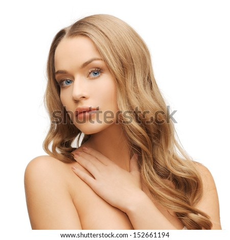 health and beauty concept face of beautiful woman with long hair