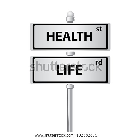 Health and life on white background