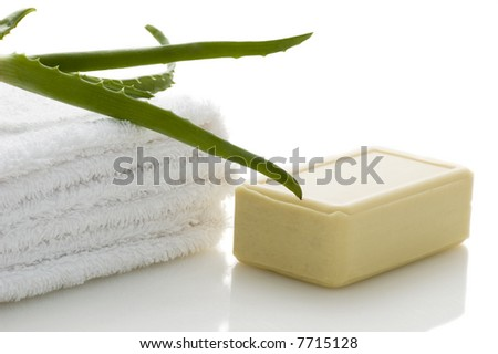 health-care and body treatment - stock photo