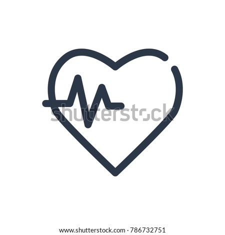 Health care icon. Isolated heart pulse and health care icon line style. Premium quality  symbol drawing concept for your logo web mobile app UI design.