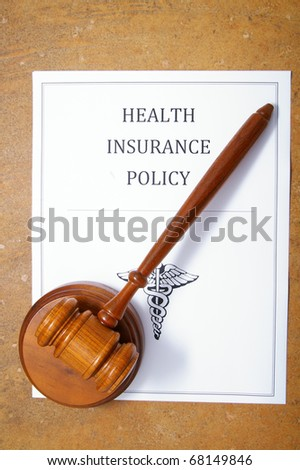health care policy and legal gavel