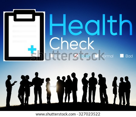 Health Check Insurance Check Up Check List Medical Concept #327023522