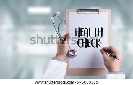 HEALTH CHECK Medicine doctor working with computer interface as medical Stock photo ©