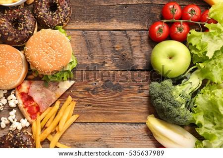 health food or junk food Stock photo ©