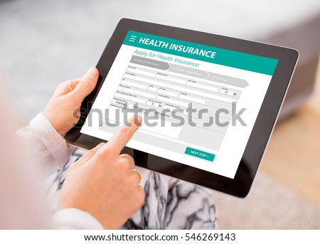 Health insurance application on tablet #546269143