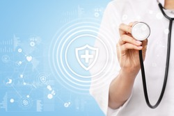 Health protection. Medical and health care concept.
