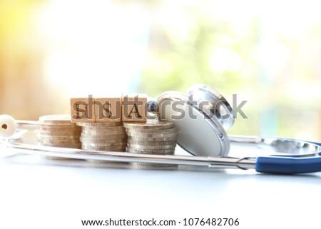 Health Savings Account, Health Financial concept Foto stock ©