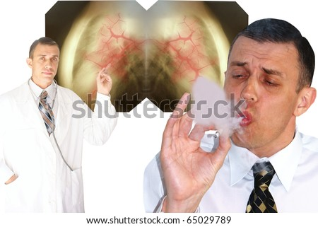 health service notify-smoking  harmful habit  is not healthy for you - stock photo