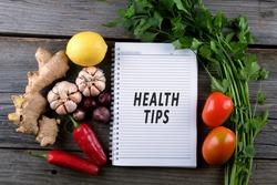 Health Tips, health conceptual