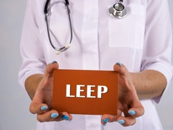 Healthcare concept about LEEP Loop electrosurgical excision procedure with inscription on the sheet.