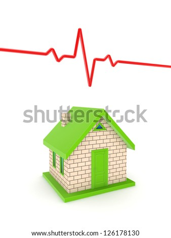 Healthcare concept.Isolated on white background.3d rendered.