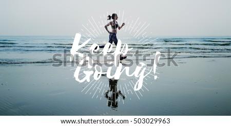 Healthcare Fitness Exercise Jog Running Concept Stock fotó ©