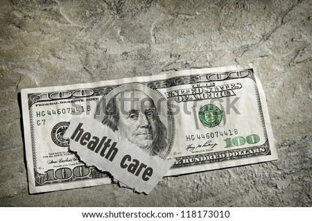 Healthcare newspaper headline on US money