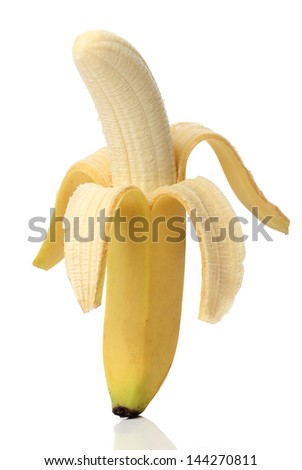 Healthy banana isolated on white background