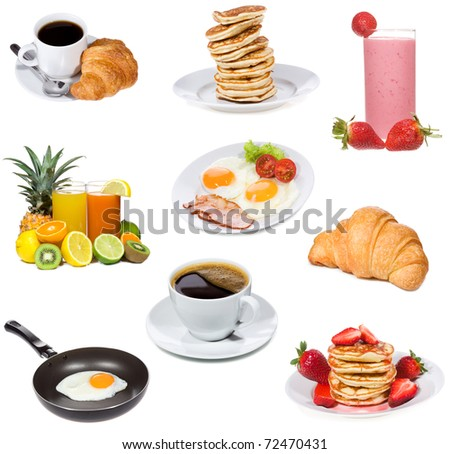 Healthy breakfast collection