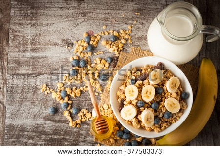 healthy breakfast concept with...